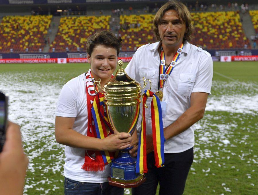 Dario Bonetti și Patrick, fiul lui Cristi Borcea, în 2012