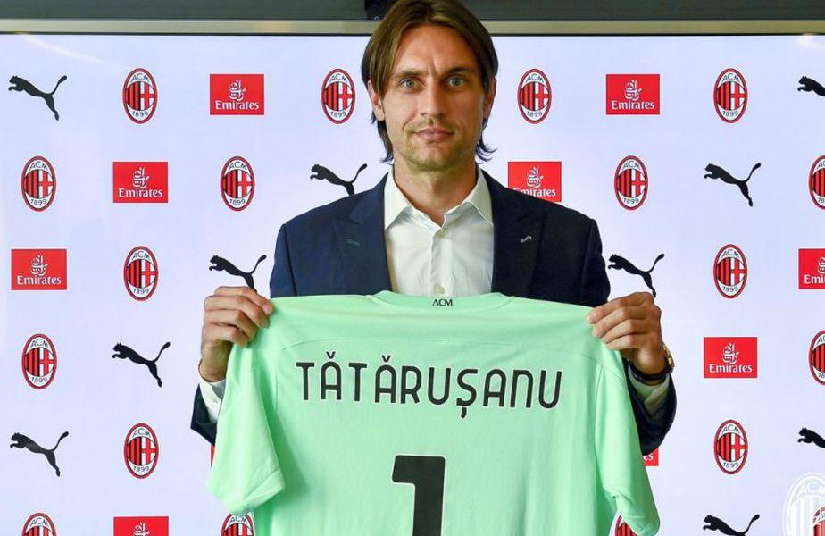 Ciprian Tătărușanu a semnat cu AC Milan. Sursă foto: Twitter AC Milan