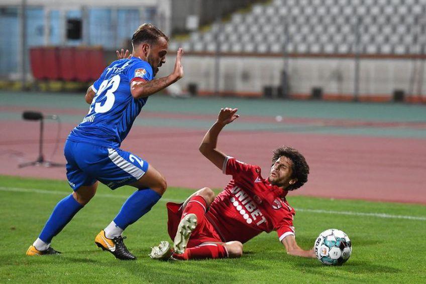 Diego Fabbrini (roșu), în Dinamo - FC Botoșani 1-1 FOTO Bogdan Bălaș