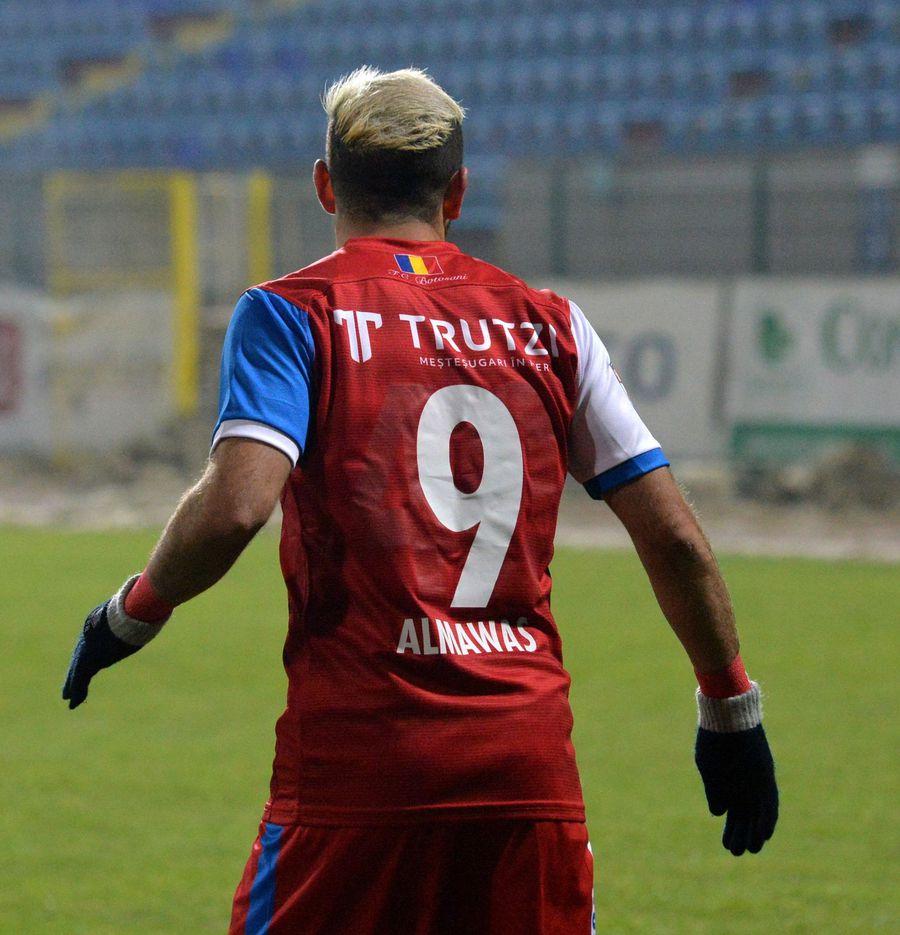 Echipamentul second-hand purtat de Al-Mawas la debutul la FC Botoșani