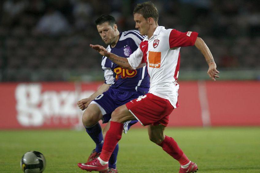 Iulian Tameș, în duel cu Nicolae Mitea. foto: Arhivă GSP