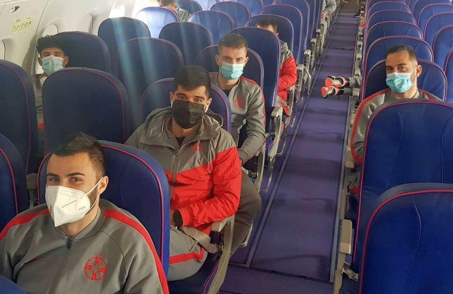 FCSB, în zbor spre Antalya // foto: Instagram @ fcsbofficial