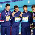 Klete Keller, Michael Phelps, Ryan Lochte și Peter Vanderkaay FOTO IMAGO