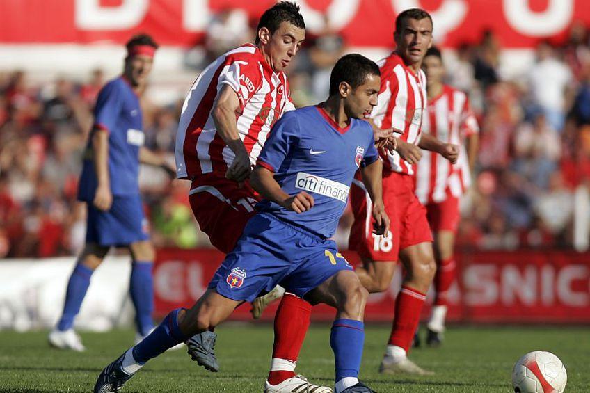 Ioan Hora (numărul 15) a evoluat în acel UTA - FCSB din 2007 / Sursă foto: Arhivă GSP