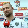Gabi Tamaș (37 de ani), fundașul celor de la FC Voluntari, a fost binedispus după victoria de la Clinceni, scor 1-0.
