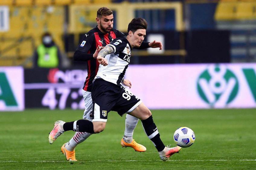 Dennis Man, în Parma - AC Milan 1-3 // foto: Imago