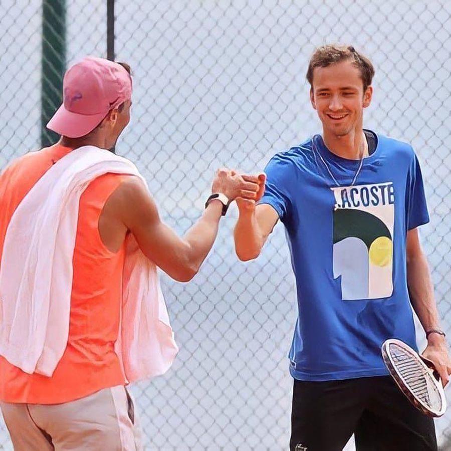 Nadal și Medvedev, după antrenamentul făcut împreună