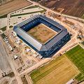 Imagine aeriană cu arena covăsneană // FOTO Raed Krishan (Sfântu Gheorghe)