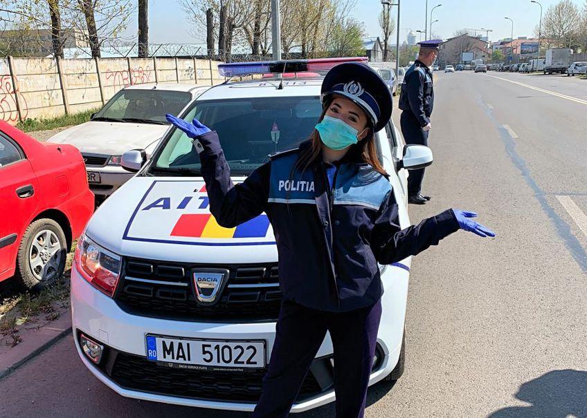 Larisa Iordache în prima zi de patrulare