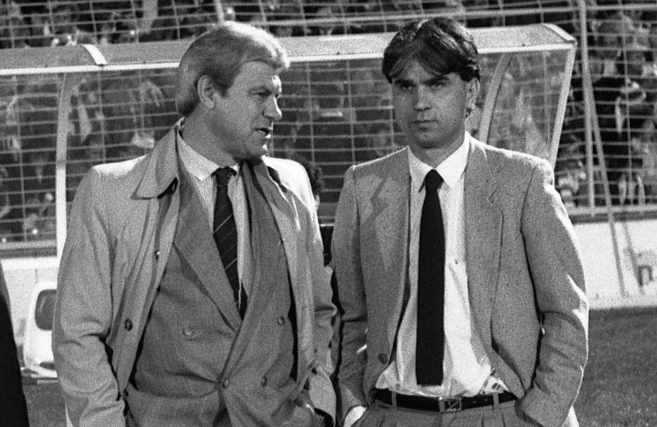 Mircea Lucescu susține că Emeric Ienei (stânga) ar fi dat sfaturi rivalelor lui Dinamo din postura de selecționer al echipei naționale a României
