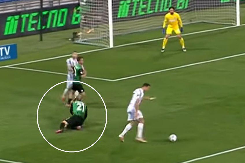 Cristiano Ronaldo vs. Vlad Chiricheș // foto: captură YouTube