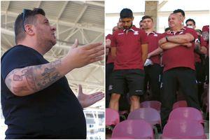 """Ultrașii Rapidului i-au dus pe jucători pe noul stadion » Avertisment clar: """"Ar fi calvarul vieții! Eu, Bocciu, vă promit asta în mod solemn"""""""