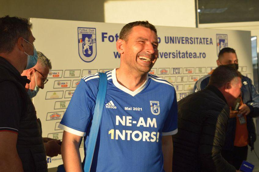 FC U Craiova 1948 a remizat cu Csikszereda, scor 0-0, și a promovat în Liga 1! Eugen Trică (44 de ani), antrenorul oltenilor, anunță obiective mărețe în sezonul următor.
