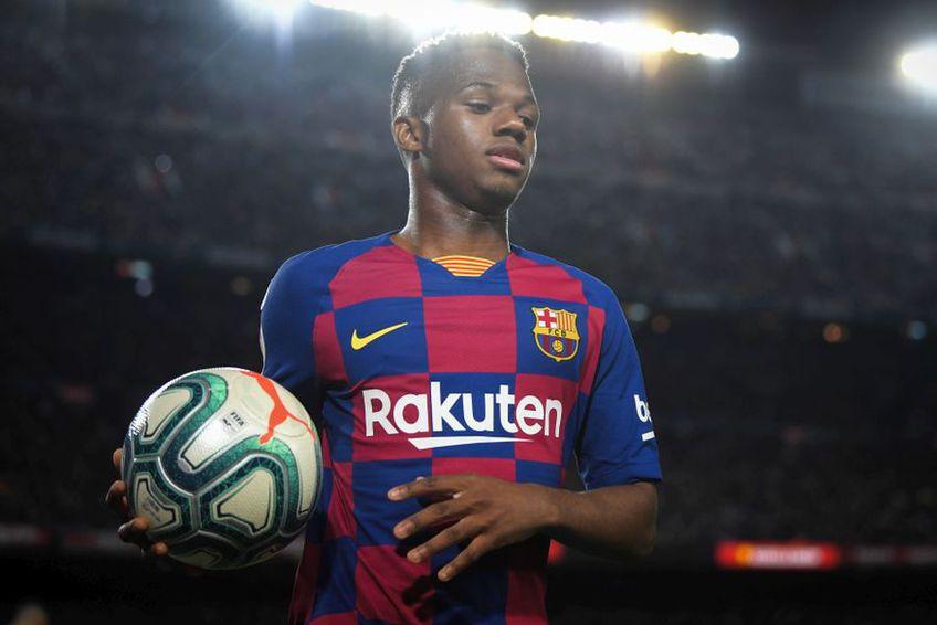 Ansu Fati a fost promovat la prima echipă a Barcelonei înainte să împlinească 17 ani // foto: Guliver/gettyimages