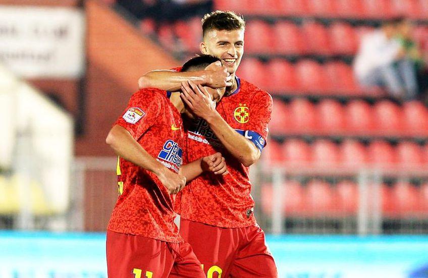 Olimpiu Moruțan alături de Florin Tănase, căpitanul FCSB