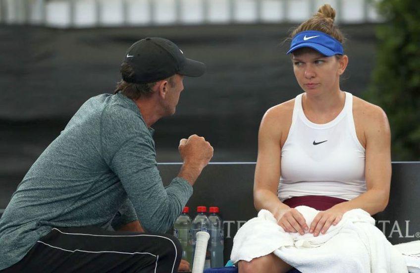 Simona Halep și Darren Cahill sunt conectați de la distanță