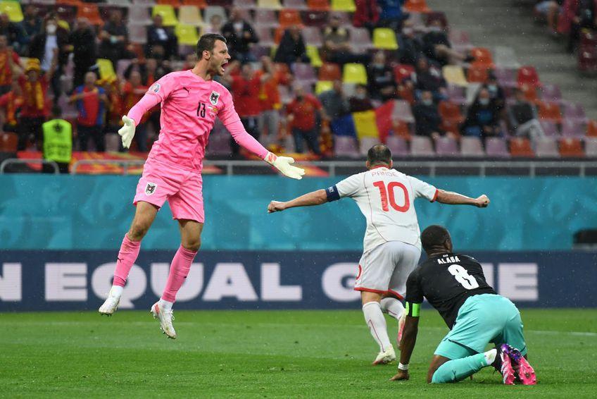 Goran Pandev (37 de ani) a marcat primul gol al Macedoniei de Nord la un turneu final, în minutul 28 al partidei cu Austria, de pe Arena Națională, în urma unei gafe de proporții în defensiva adversă.