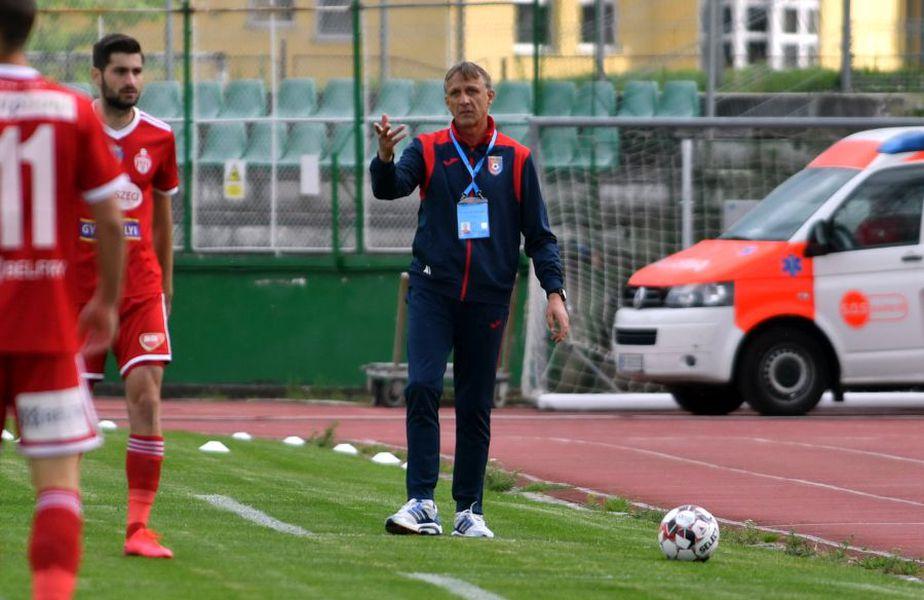 Emil Săndoi și-a criticat jucătorii după eșecul cu Sepsi. foto: Bogdan Bălaș