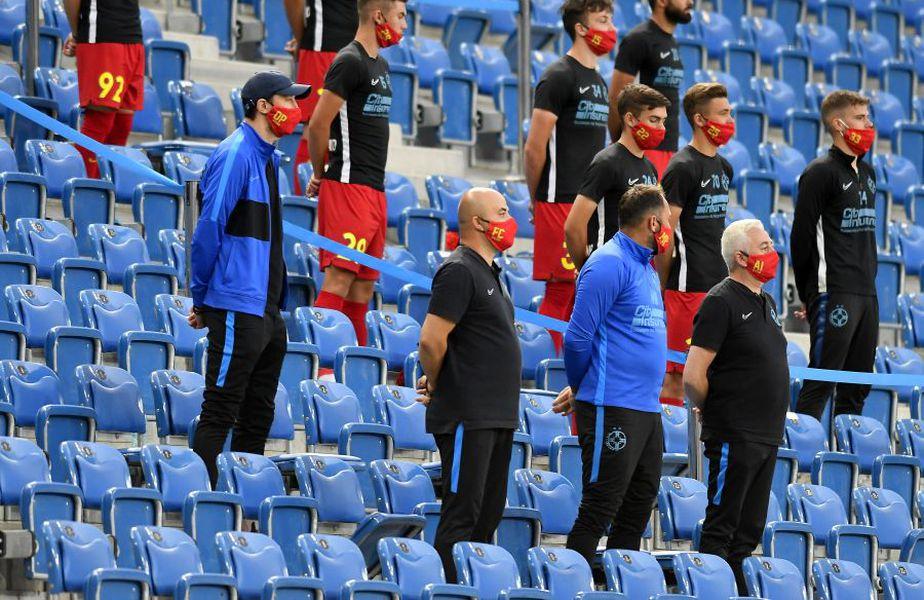 Ei au condus FCSB în Bănie: Ovidiu Petre, analist video, Cătălin Făiniși, ofițer de presă, Marius Popa, antrenor cu portarii, și Adrian Ianuli