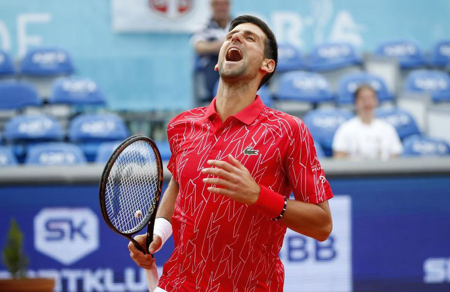 Novak Djokovic, în timpul Adria Tour. foto: Guliver/Getty Images
