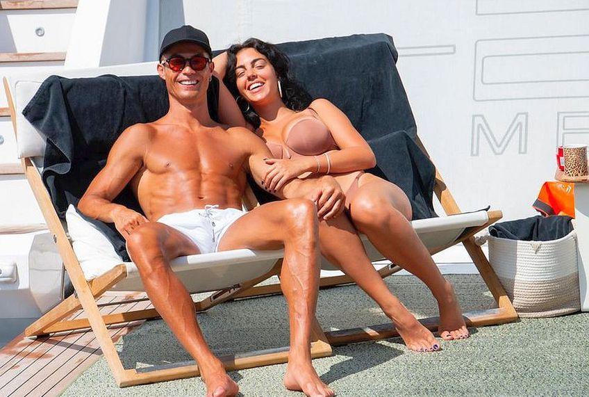 Cristiano Ronaldo și Georgina Rodriguez, vacanță pe iaht după EURO 2020