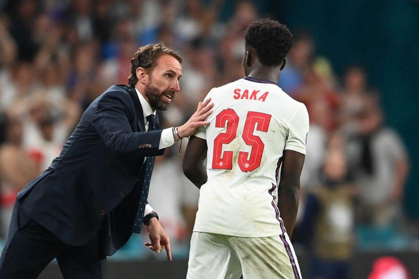 Saka a fost unul dintr englezii care au ratat de la punctul cu var / Sursă foto: Guliver/Getty Images