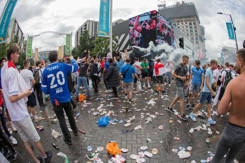 A fost haos în jurul Wembley în ziua finalei EURO
