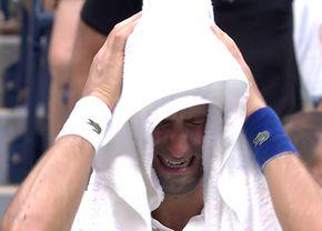 """Momentul în care Novak Djokovic a izbucnit în lacrimi, deși finala nu se terminase » Ce s-a întâmplat pe """"Arthur Ashe"""""""