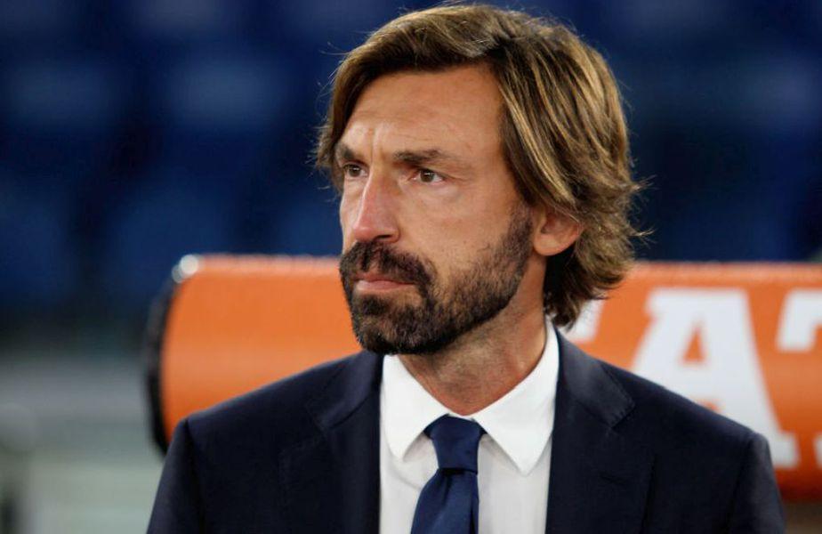 """Andrea Pirlo, 41 de ani, antrenorul lui Juventus spune că """"e mult mai stresant pe bancă. Acum, eu conduc, dar alții interpretează rolurile. Înainte, eu decideam ce fac cu mingea""""."""