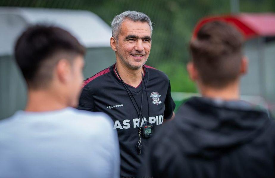 Adrian Iencsi, antrenorul Rapidului, a fost depistat pozitiv cu COVID-19