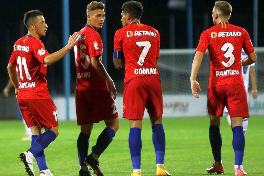 Roș-albaștrii au obținut o calificare dramatică în Serbia / Sursă foto: Facebook@FCSB