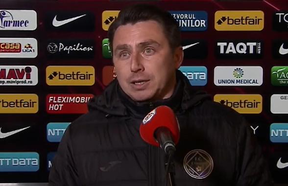 """CFR Cluj - Clinceni 3-1. Ilie Poenaru are memoria scurtă: """"Nici nu știu când am mai primit 3 goluri"""""""