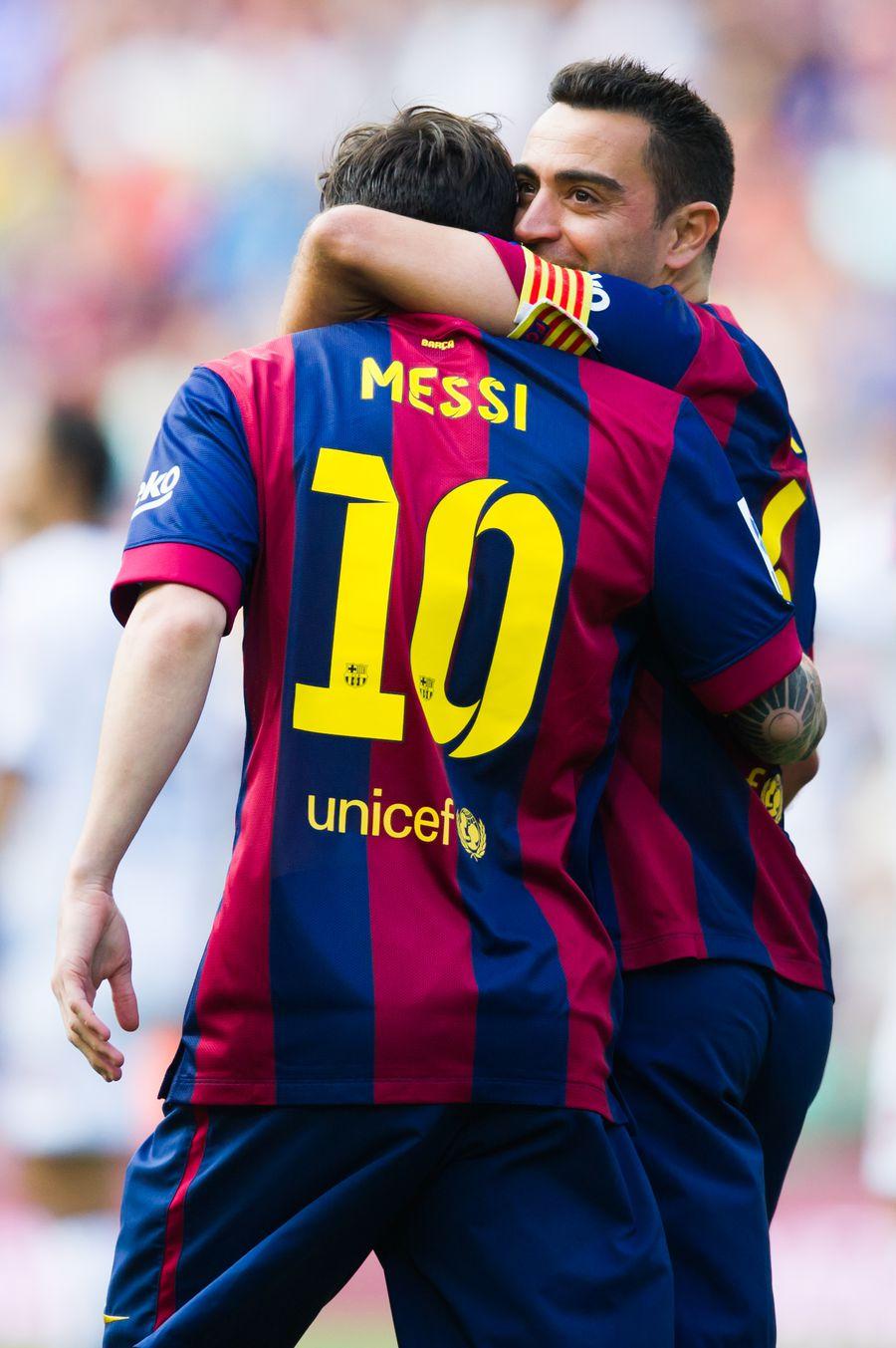 Lionel Messi și Xavi au câștigat împreună 23 de trofee pentru FC Barcelona FOTO Gettyimages