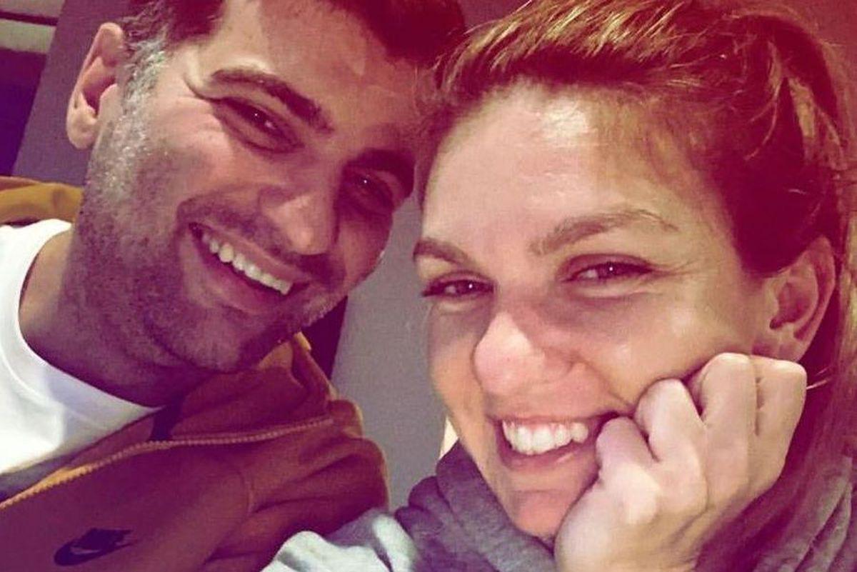 VIDEO Simona Halep și Toni Iuruc, moment de afecțiune de Ziua Îndrăgostiților » Cum i-au surprins camerele TV
