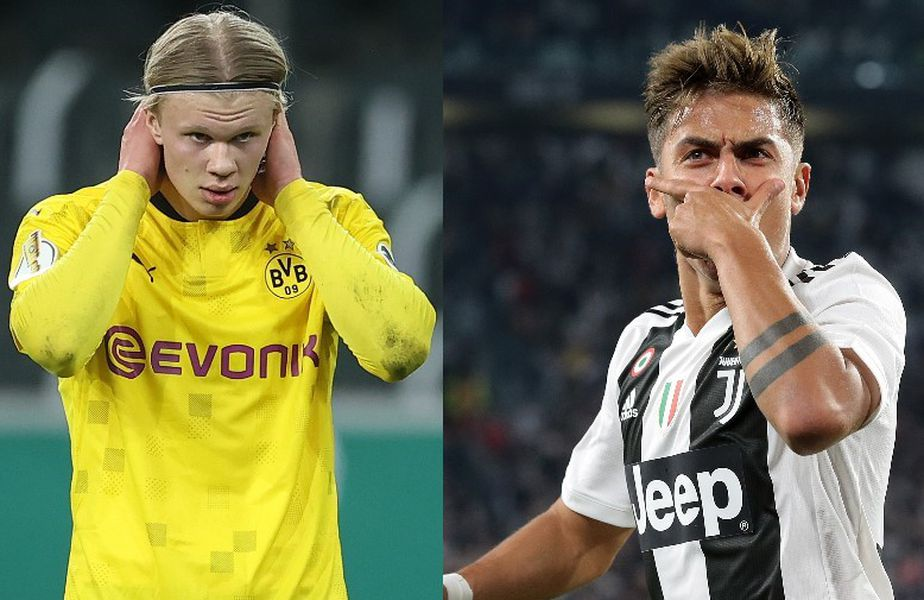 Erling Haaland și Paulo Dybala FOTO Guliver/Gettyimages