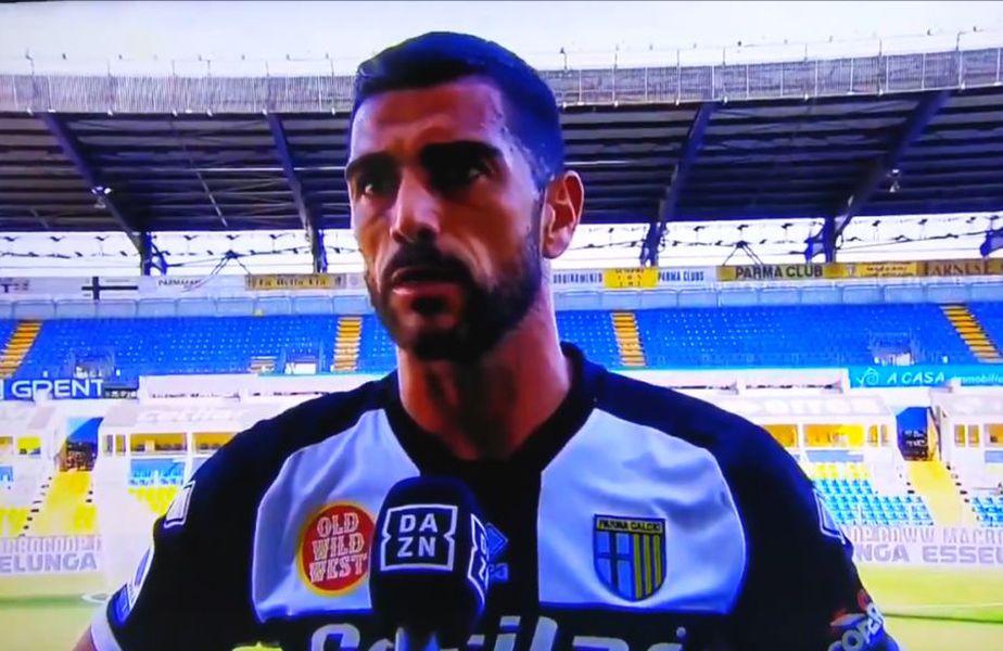 Graziano Pelle (35 de ani) a vorbit despre relația cu Dennis Man (22 de ani) și Valentin Mihăilă (21 de ani), chiar la pauza meciului dintre Parma și AS Roma.