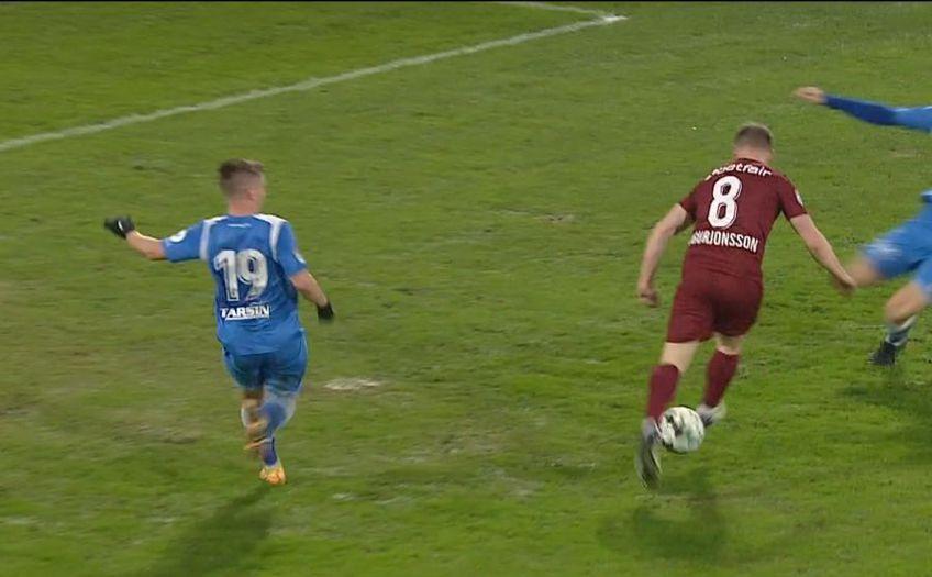 Runar Mar Sigurjonsson (30 de ani), primul islandez din istoria Ligii 1, a impresionat la debut. A oferit o pasă de geniu la ultimul gol din CFR Cluj - Poli Iași, scor 3-0.