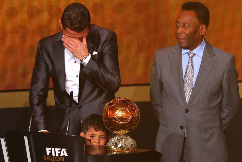 Cristiano Ronaldo și Pele, în 2014 // foto: Guliver/gettyimages