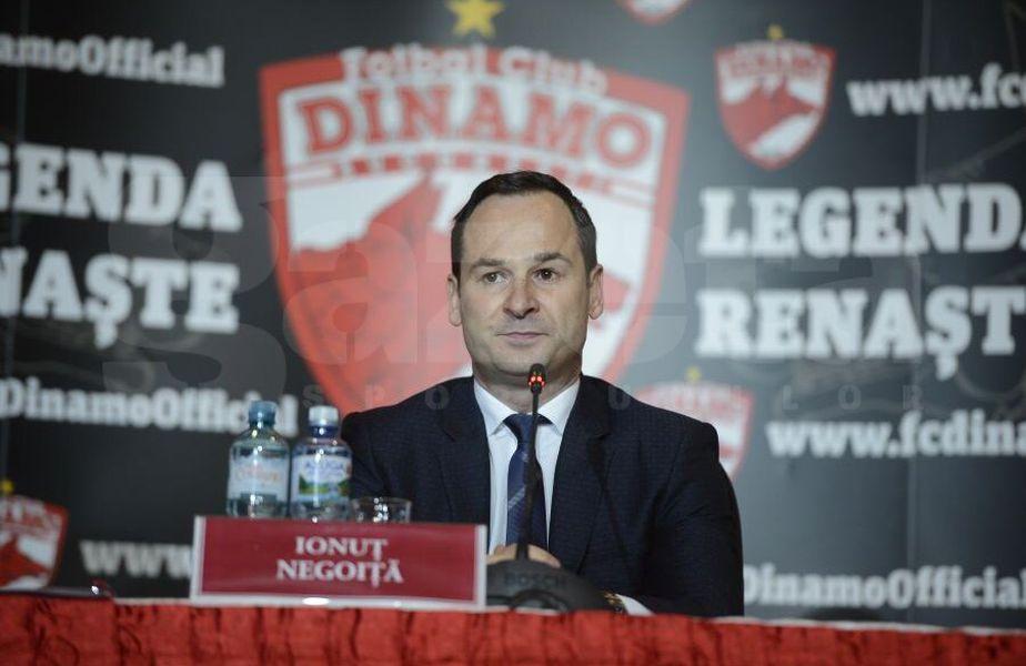 Ionuț Negoiță a anunțat că nu va mai investi la Dinamo, iar clubul riscă să fie retrogradat în Liga 2, dacă nu plătește 180.000 de euro pentru licență