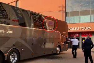 Incidente înaintea partidei: autocarul lui Real Madrid, atacat cu pietre la Liverpool