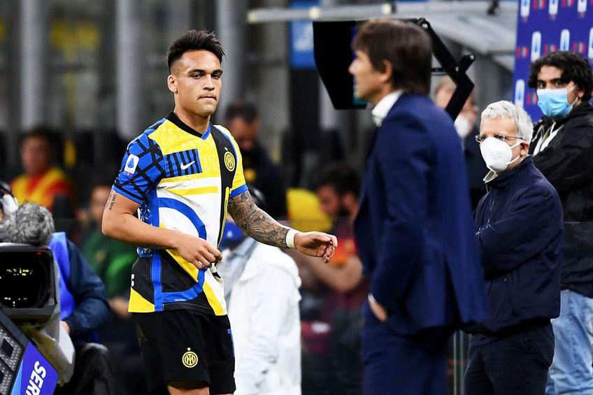 Lautaro Martinez i-a cerut scuze antrenorului Antonio Conte după răbufnirea din timpul meciului contra Romei (3-1), foto: Imago