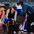Simona Halep s-a accidentat în timpul partidei cu Kerber de la Roma. FOTO: Jimmie48 Tennis Photography