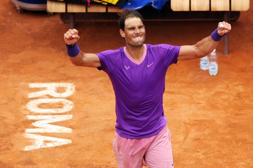 Rafael Nadal exultă după succesul cu Zverev // Foto: Getty Images