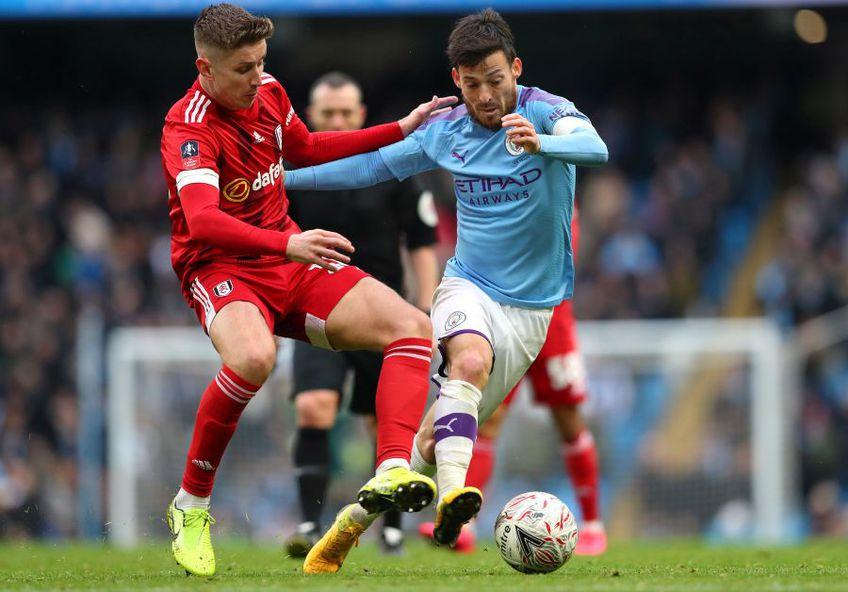 David Silva, în albastru, la Manchester City, foto: Guliver/gettyimages