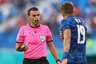 Primul din istorie! Moment unic în meciul arbitrat de Hațegan la Euro