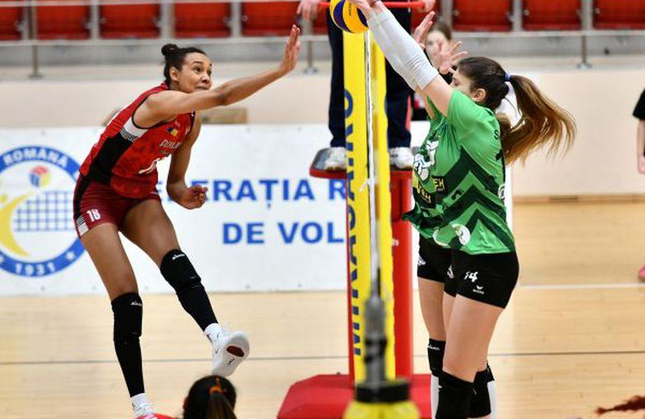 Nneka Onyejekwe a venit sezonul trecut la Dinamo și a ales să rămână la echipa bucureșteană FOTO sportpictures.eu