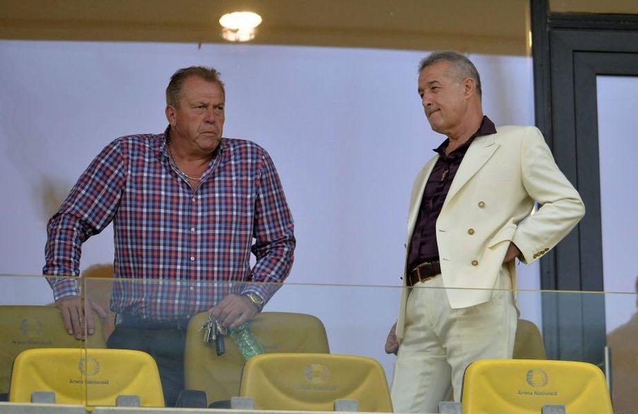 Gigi Becali (dreapta) și Helmut Duckadam (stânga) au colaborat la FCSB 10 ani