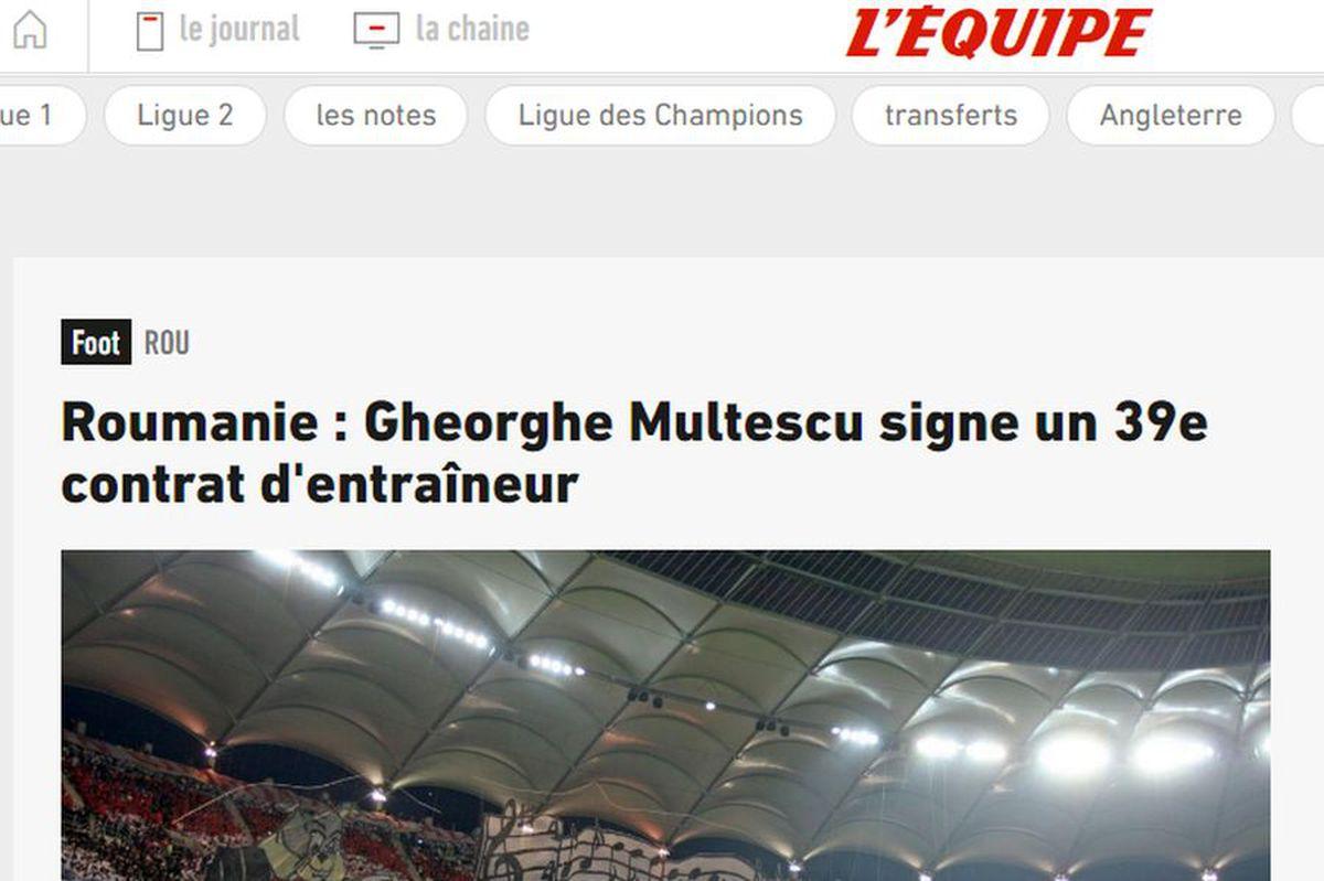 """DINAMO. Gigi Mulțescu a ajuns în L'Equipe după ce i-a preluat din nou pe """"câini"""" » Ce au remarcat jurnaliștii francezi"""