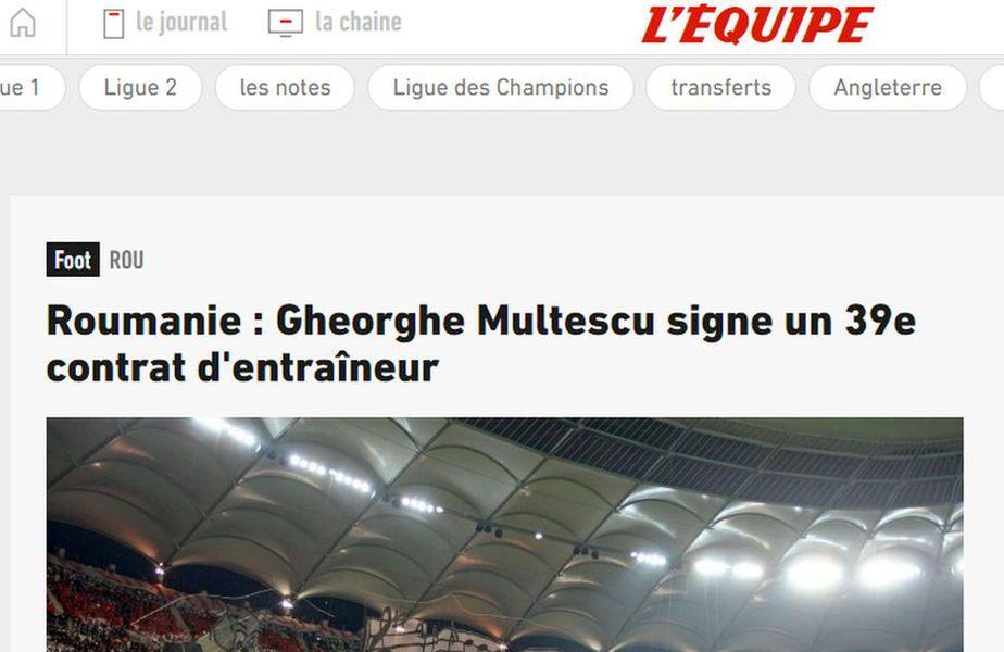 Numirea lui Gigi Mulțescu pe banca lui Dinamo a ajuns până în presa din Franța.