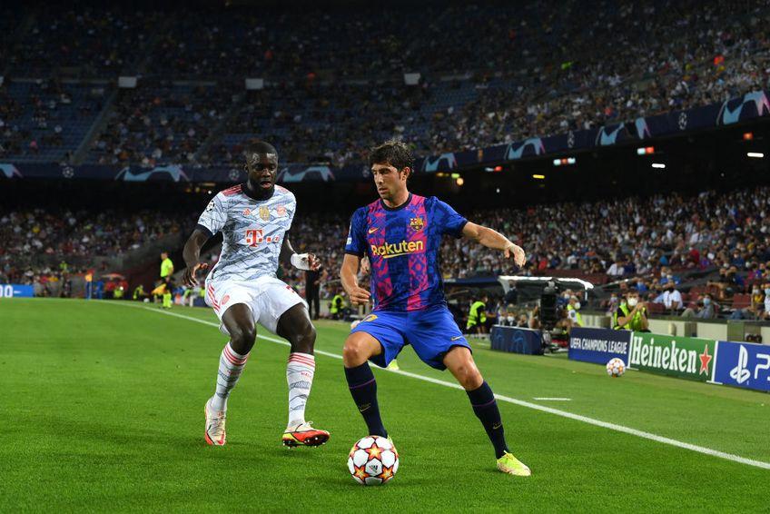 Sergi Roberto,  Barcelona, vs Dayot Upamecano, Bayern